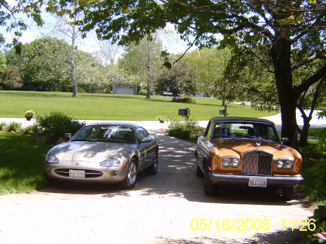 Rudolf G. Mortimer, PhD (Owner) A 1997 Jaguar XK8 coupe and a 1978 Rolls Royce Corniche drop-head coupe. I have owned the Jaguar about 7 years and the Rolls about 12 years. The Jag has about 145K miles and the Rolls about 78K. Both are running well and driven often. That is, when I am not driving my 1979 MGB convertible, which is a lot of fun. Rudi Mortimer