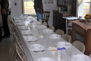 Amish Dinner Table